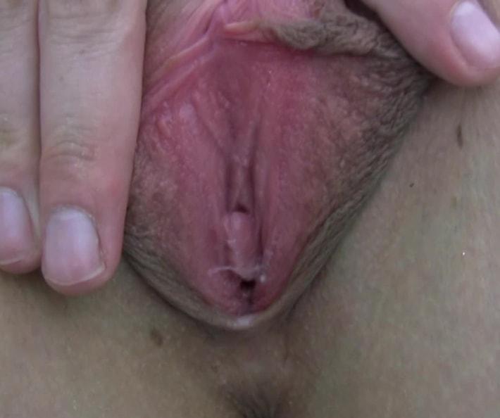 Danika masturbates with vibrator