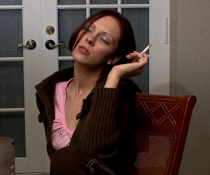 Penelope looks sexy smoking