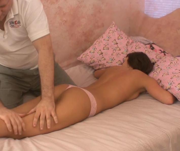 April gets a massage